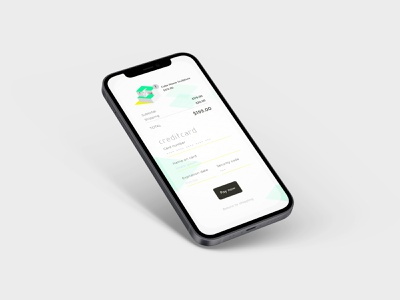 Credit Card Checkout payment shopping clean white minimalistic simple checkout credit card modern mockup screen page house mobile dailyui ui vector isometric icon illustration