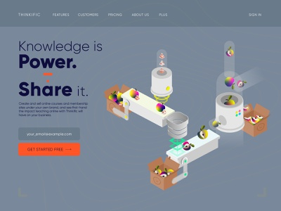 Knowledge is Power, Share it. detail idea food fruit web page typography 3d sorting dribbble weekly challenge thinkific robot machine apple ui game vector 2d icon isometric illustration