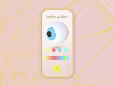 Color Picker retro motion graphics isometric trending gradient ui color eye cinema 4d color picker dailyui figma 3d low poly c4d ae after effects animation 2d illustration