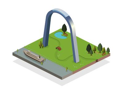 Isometric Gateway Arch