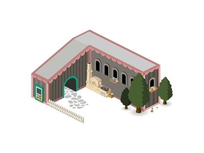 Isometric Hungarian house