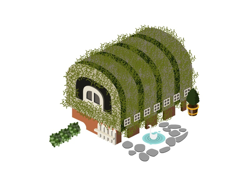 Isometric Letter D type alphabet letter building town city map icon architecture 2d 3d isometric