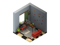 Isometric 3D Room