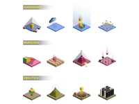 Isometric Abstract Icon Concepts