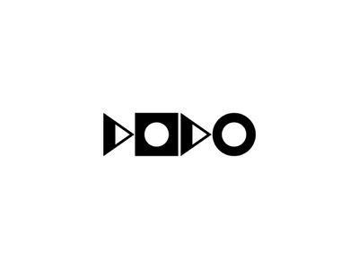 """Geo Letters """"Dodo""""_Dribbble Weekly Warm-Up drawing flat simple circle triangle square typography typo letterset letter dodo warmup skecth architecture geometry shape line bauhaus alphabet"""
