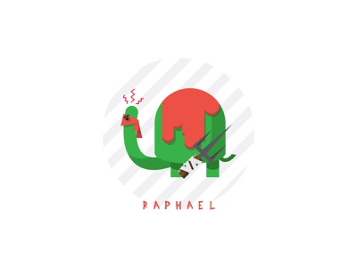 Raphael weapon turtle tmnt ninja turtles ninja letter hero font flat design fanart fan art pet animal sai raphael design 2d icon illustration