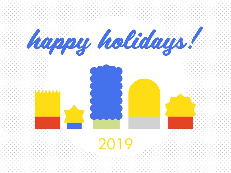 Holiday Card the simpsons thesimpsons fan art typography warmup family picture family portrait character simple design minimal vector family holiday card card holiday simpsons dribbble weeklywarmup flat design illustration