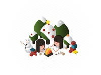 Isometric S'mores & Holidays