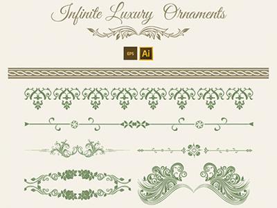 59 Luxury Ornaments ornaments vector vintage