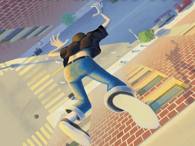 Jump illustration digital painting hellgateindustries.com