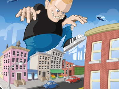 Little Giant illustration vector hellgateindustries.com