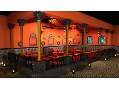 Moroccan Restaurant Seating