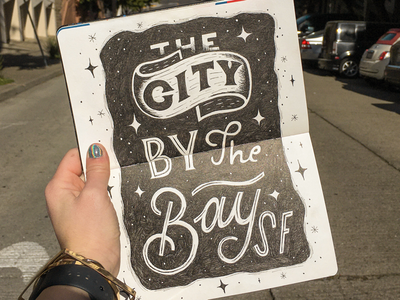 The City By The Bay | Travel Journal bayarea citybythebay wanderlust travelling traveler typography drawing sketching handlettering lettering journaling journal sketchbook travel california cali sanfrancisco frisco sanfran sf