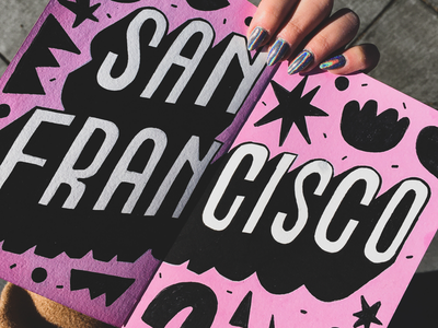 San Francisco journaling traveljournal journal goldengate traveler travelling pink california lettering handlettering moleskine poscapens posca sketchbook frisco sanfrancisco sf