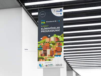 Roll-up for climate change event campaign advertising ad eco print hanging renewable energy nature educational environment bio change climatechange climate wayfinding poster banner rollup banner rollup