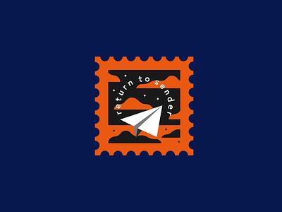 Return to Sender stayathome stayhome pandemic quarantine lockdown address sender return letter postcard snailmail mail post stamp homesick travel ban flying airplane paper plane plane