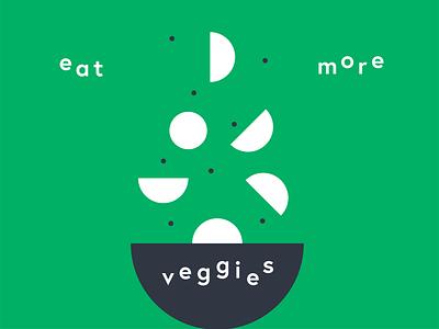 Eat more veggies! supper dinner shapes geometric eating eat lunch diet healthy food groceries bio eco green bowl salad vegetarian vegan veggie vegetable