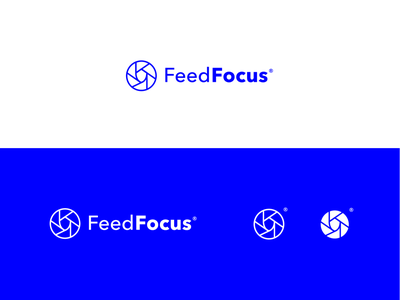 Logo Concept lens cyber online security minimal line icon line blue secure safety shield photography camera icon focus identity branding logo design brand logo