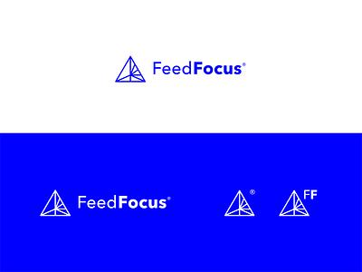 Logo design concept line logo minimalistic minimal concept triangle monoline line icon line geometric blue focus feed icon identity brand design branding brand logo design logo