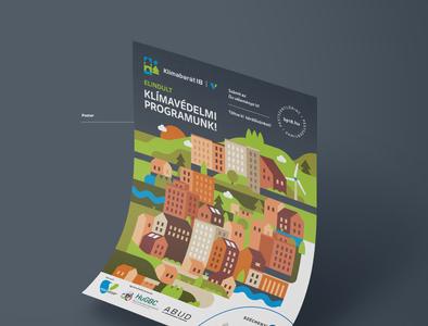 Klímabarát18 - Climate change strategy event branding