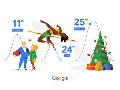 Google Adsense 2019 illustration design vector illustration banner google character illustration