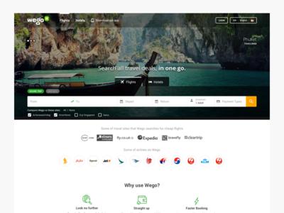 Wego Homepage Redesign