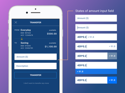 Input Calculator in Banking App interface design banking fintech figma smart ux mobile design input calculator finance pattern ui