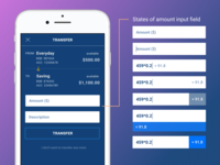Input Calculator in Banking App