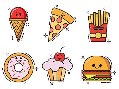 Edible icons vector ai edible icons icon