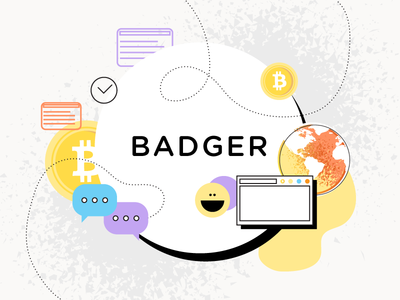 Badger Wallet styleframes and illustrations