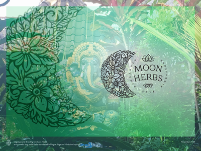 Moon Herbs - an Ayurvedic Herbs Store & Blog herbalist blog herbal ayurveda herbs herb ayurvedic icon vector logotype brand identity logo design branding