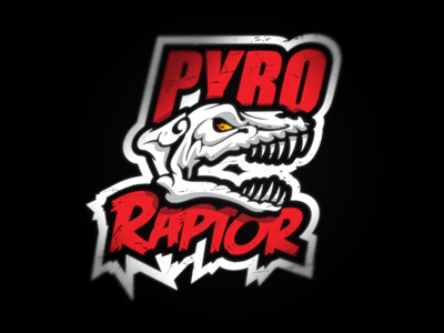 Pyro Raptor weight training gym strength dinosaur raptor skull hardcore badass