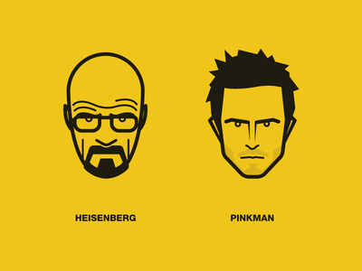 Breaking Bad breaking bad face icons illustration heisenberg pinkman