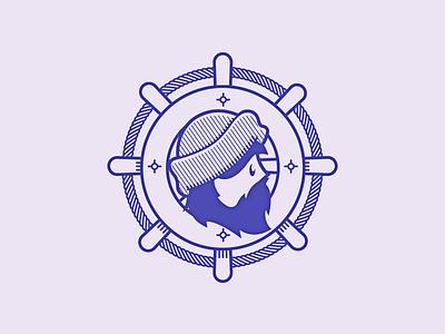 Beardy Boy2 beard hat sailor lumberjack rough outdoors face navy ship wheel rope navigator