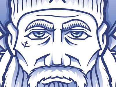 The Beard Guy beard hat sailor lumberjack rough outdoors face navy ship tattoo