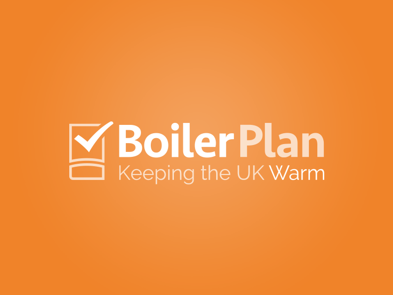 Boilerplan logo boiler heating plumber thromostat warm installation tick check tick box