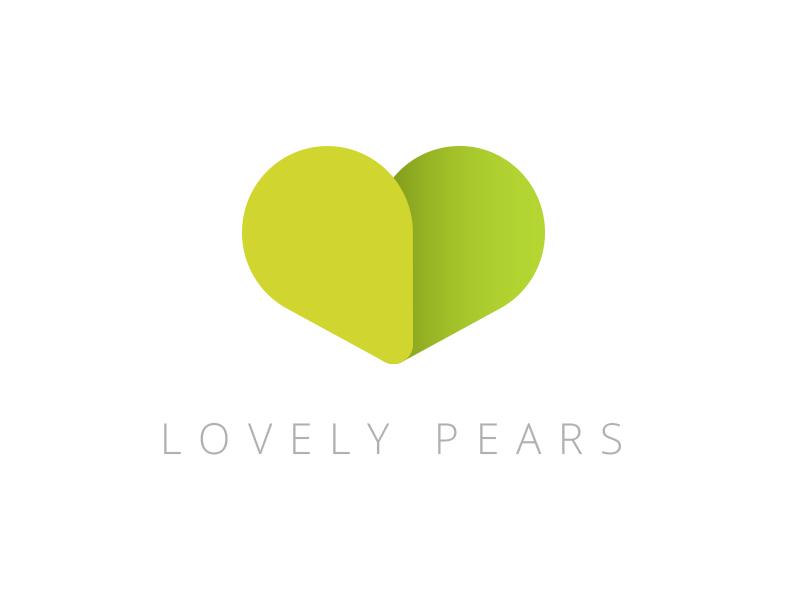 Lovely Pears development software green love heart pears
