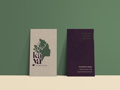:::Kaya Institut::: woman logo business card design nature logo icon brand design vector logo typography design branding