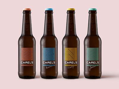 CAREL'S Beer Co. craftbeer colours bottle art direction beer logo branding vector illustration design branding design