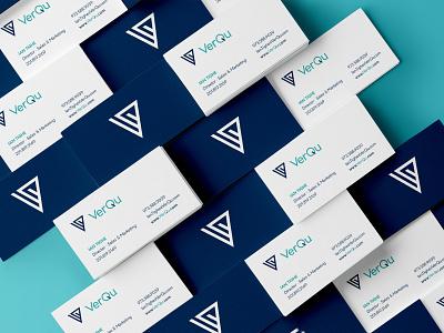 VerQu logo corporate identity businesscard verqu vector illustration art direction branding design branding
