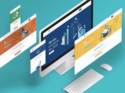 VerQu - Sub brands subbrand digital webdesign website vector logo design illustration art direction branding design branding