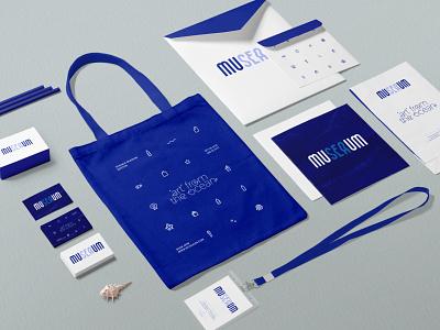 muSEAum concept waves plastic museum sea vector logo design illustration art direction branding design branding