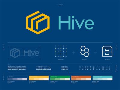 Hive Logo Construct logo construction documents logo concept data vector logo design branding design art direction branding