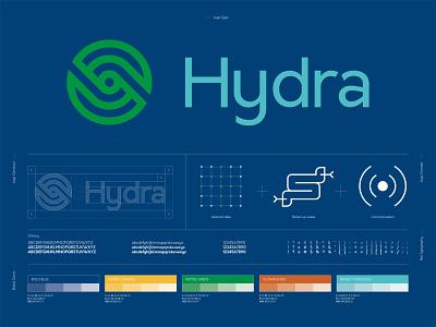 Hydra Logo Construct communication hydra logo concept logo construction digital data vector logo design branding design art direction branding