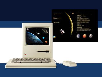 First Portfolio Website 1998 animation dreamweaver website design