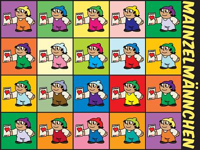 Illustrated Mainzelmannchen! cartoon color pop art illustrator