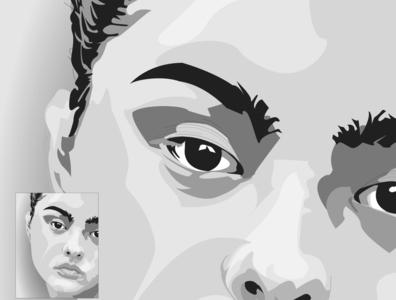 Devon Aoki - Closeup, Illustration