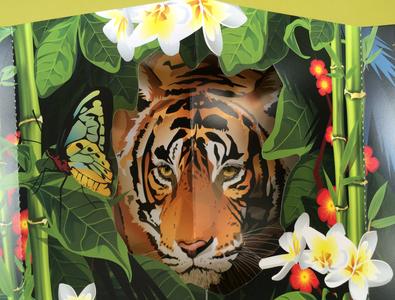 Tiger Invitation Design, Fold & Diecut Pop-up