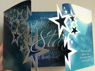 When You Wish Upon A Star - Invitation Design & Diecut