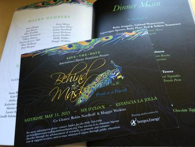 Behind the Mask - Invitation and Program Design